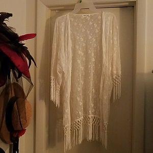Fringed Lace Dress Jacket